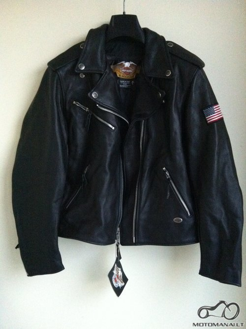 Harley-Davidson Harley Davidson Juoda Odinė Striukė <small>(L)</small>