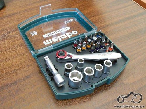 Metabo'14 Motociklo įrankių rinkinys