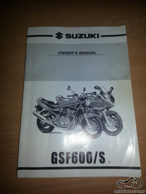 SUZUKI'99 Suzuki GSF600 OWNER'S MANUAL