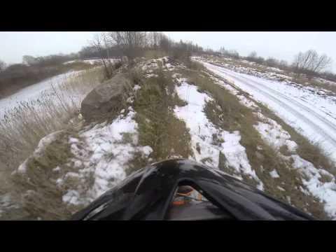 KTM EXC 450 on ice