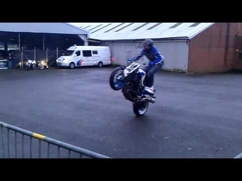 Stunt Rider At Adelaide Motorcycle Festival Belfast 2011