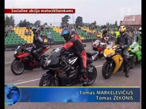 Į pirmąją socialinę akciją motociklininkams susibūrė beveik 150 greičio mėgėjų