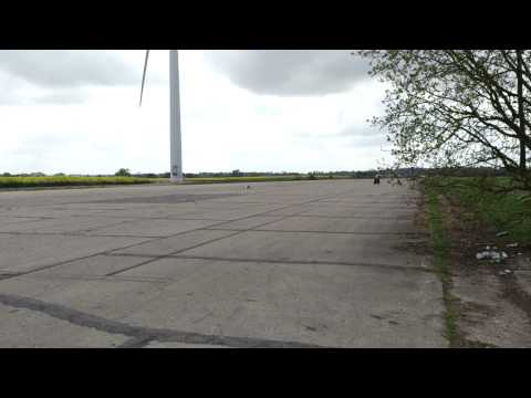 stunt rider having fun at the airfield