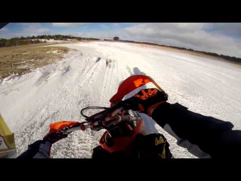 Dirtbikes Ice Riding 2015