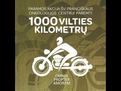 """Paramos akcija """"1000 vilties kilometrų""""."""