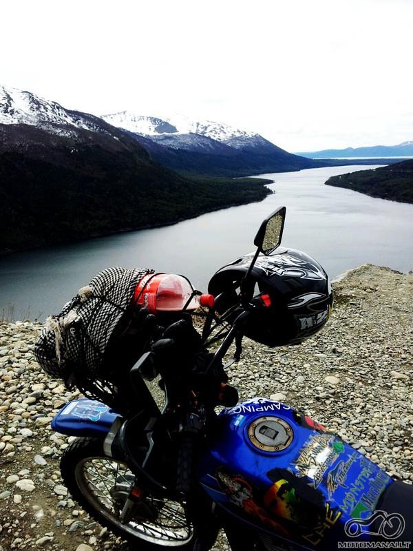 Paso Garibaldi, Tierra del Fuego, apie 70km iki Ushuaia