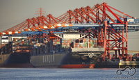 Antra barža gale - didžiausias pasaulyje naudojamas laivas.