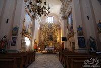 Bažnyčios vidus. Centrinis altorius kurį sukurė Dobriy Lytwyn