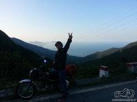 Vaizdas nuo kalnų į jūrą