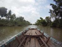 Mekongo delta - Pasiplaukiojimas motorine valtimi
