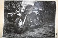 Truputis kruopstumo ir detaliu kruva vel virsta motociklu .... ( apie 1970 - 1980 m )