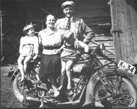 Su žmona ir vaikais