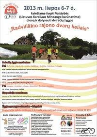 Švęsk Valstybės dieną ant dviračio. Aplankyk Radviliškio krašto dvarus