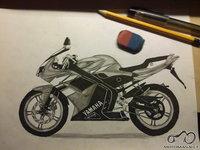 Nupiešiau savo moto Yamaha Tzr :)