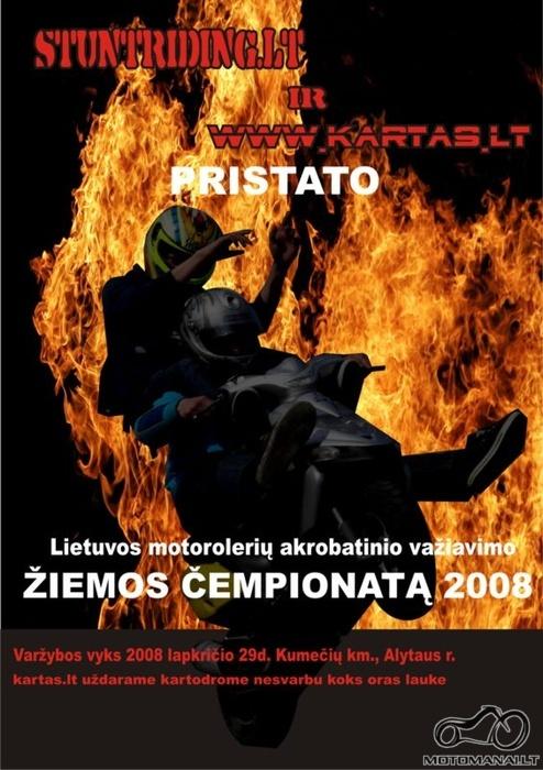 Lietuvos motorolerių STUNTRIDING Žiemos Čempionatas 2008 11 29