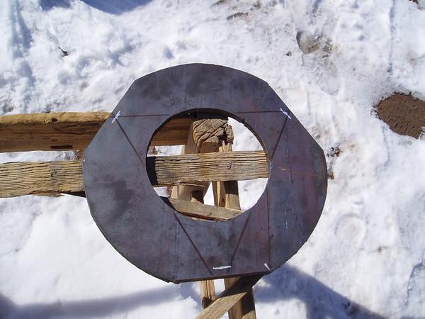 Plazma išpjautas ruošinys 15mm, diametras 44cm