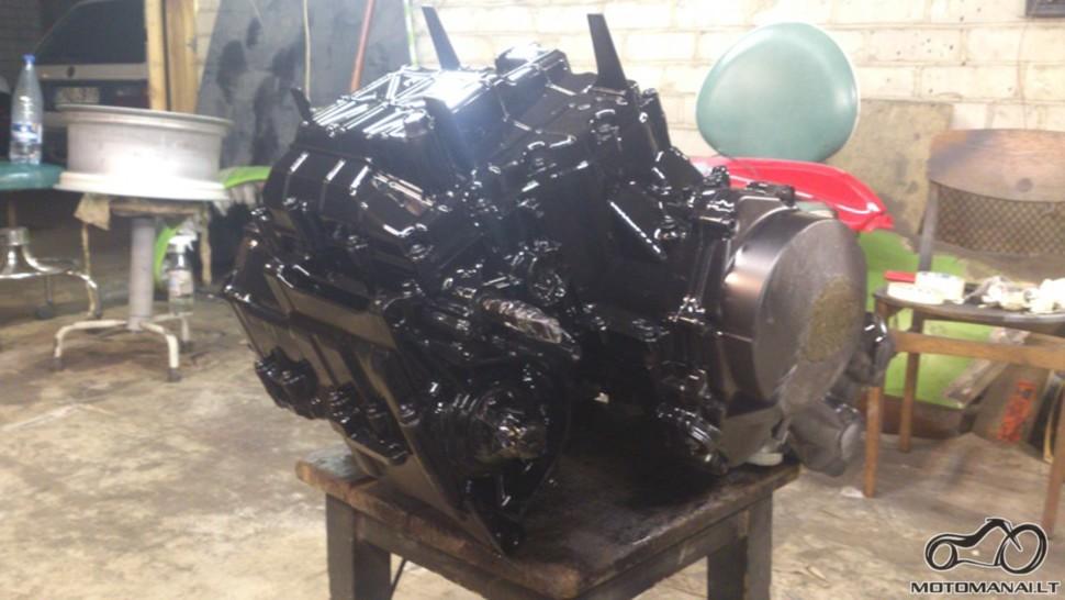 Honda Hornet variklis, dugnas po dažymo