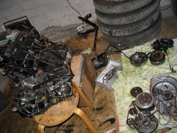 Yamaha YZF R6 remonto darbai