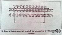 Kaip pamatuoti grandinės išsitampymą