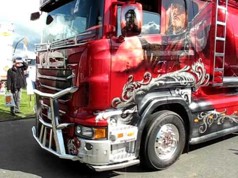 Gunfighter Scania custom truck on the move