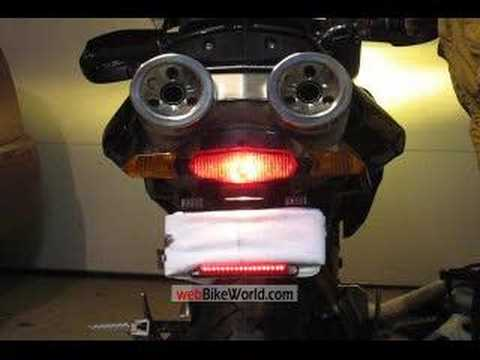 Motorcycle LED Brake Light Replacement