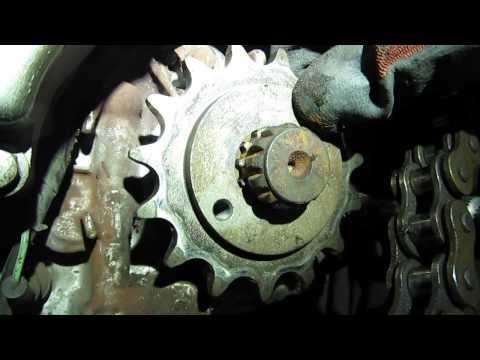 HONDA XL650V TRANSALP output shaft broken / zużyty wałek zdawczy