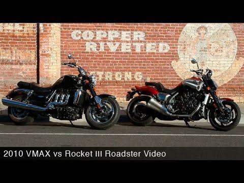 MotoUSA 2010 VMAX vs Rocket III Roadster