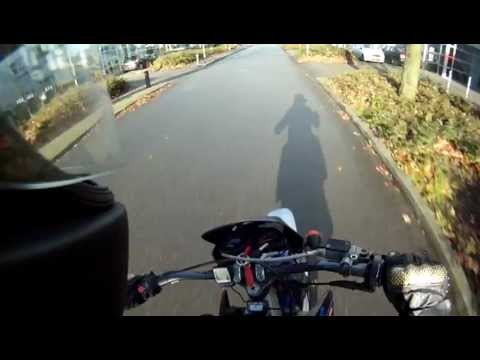 Sunday morning ride - crash Derbi Senda