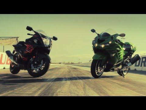 Kawasaki ZX-14R vs Suzuki Hayabusa! - Head 2 Head Episode 2