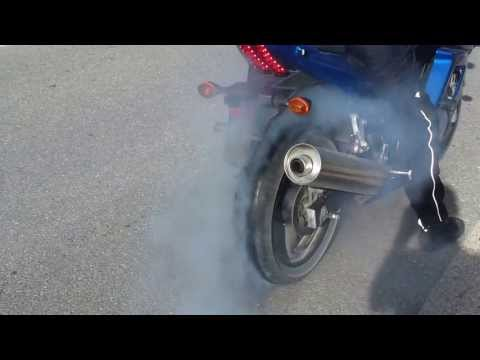 Suzuki SV650S burnout PART 2