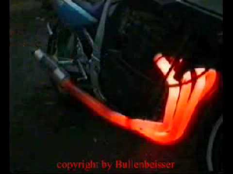 GSXR exhaust in flames