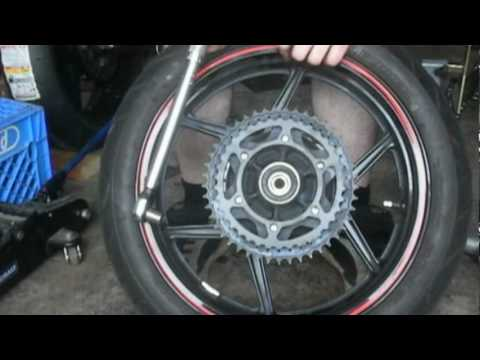 Howto: Replace Motorcycle Chain and Sprockets in 10 mins ('09 Ninja 250)