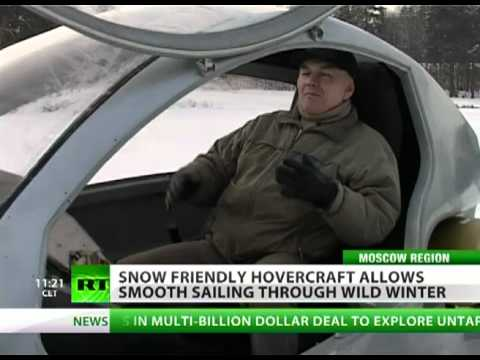 PERSONAL HOVERCRAFT IN RUSSIA -- DRIFT ON ICE AND SNOW