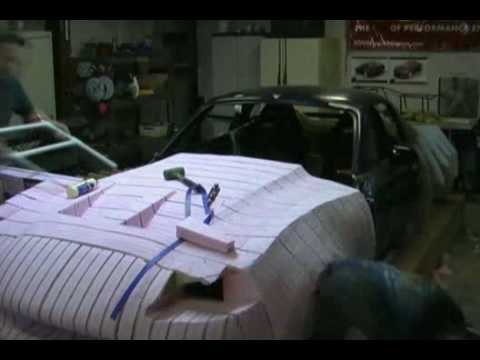 Bailey Blade Car Design | Sculpting Foaming core - Part 8