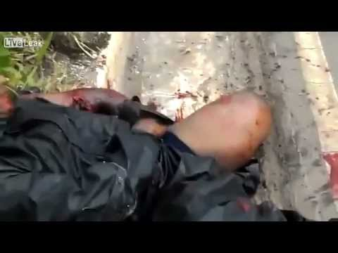 Worse motorcycle accident on youtube! Viewer discretion is advised!!!