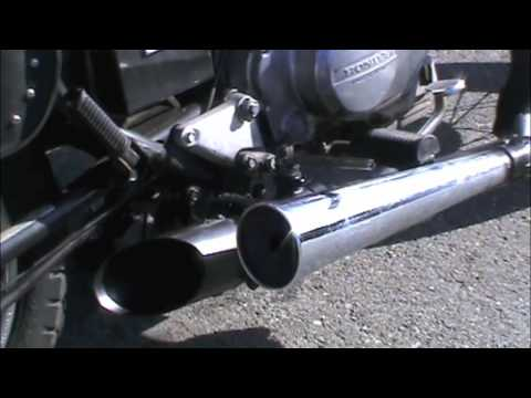 Homemade variable sound control exhaust for motorcycle