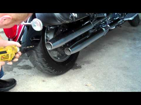 V-Star Exhaust hole trick, exhaus mod