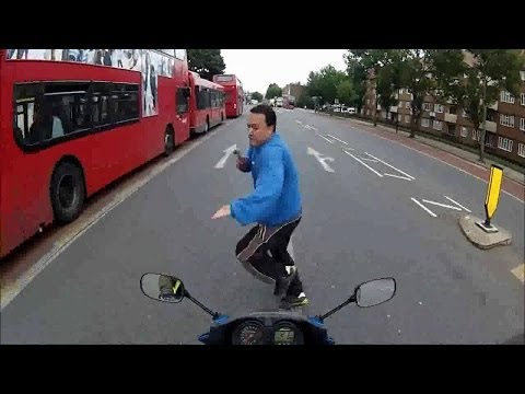 Idiot on the road