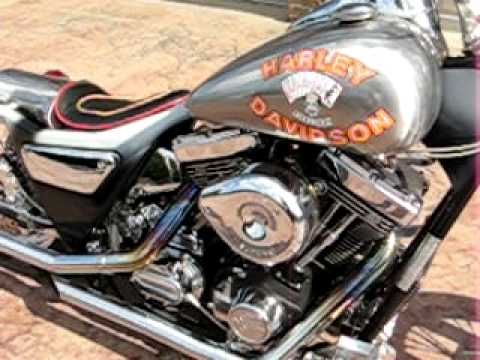 Harley Davidson and the Marlboro Man Chopper Motorcycle Bike FXR Frame Engine Running For Sale