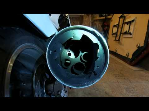 How to drill out baffles in stock ZX11 exhaust
