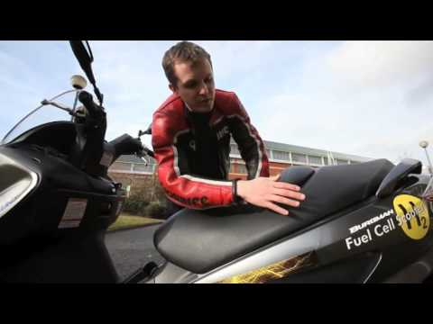 Hydrogen fuel cell Suzuki scooter