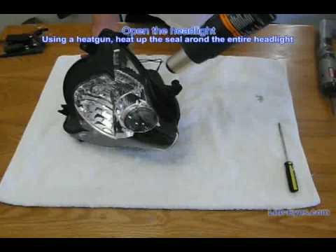 How to open an 2007 GSXR headlight to install CCFL halos (Part 1)
