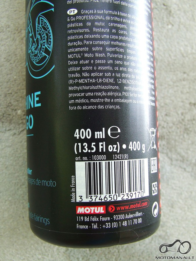 Motul Shine and Go