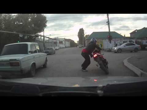 Очень трезвый мотоциклист