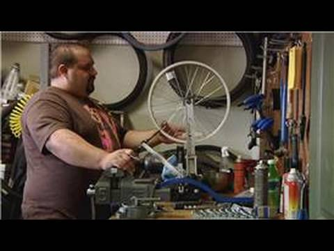 Bicycle Equipment : How to Straighten a Bicycle Wheel