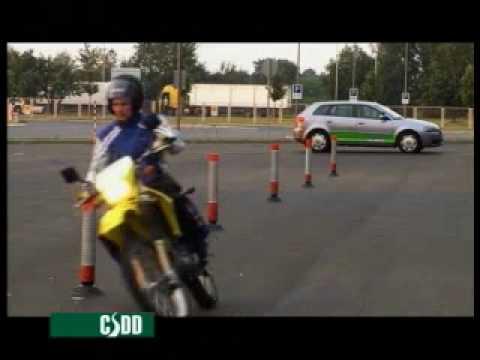 Motocikla (A kategorija) vadīšanas eksāmens CSDD (visas daļas)