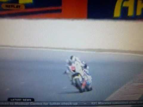 MotoGP2 debutant Carmelo Morales Has Horrific Moto GP Crash On Finish Line.