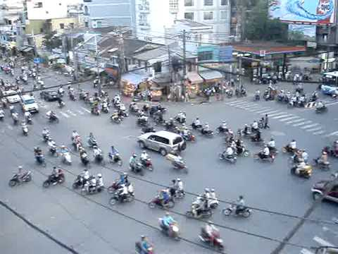 Rush Hour Traffic in Ho Chi Minh City, Viet Nam