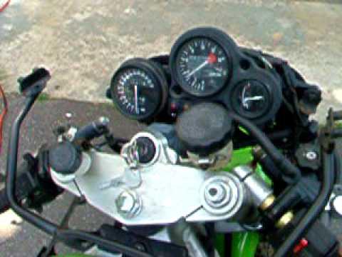 ZXR750 H1 Ninja Motor Rebuild Sound Check