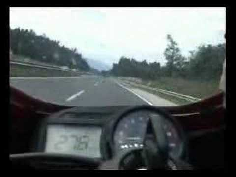 CBR 954 RR Top speed run